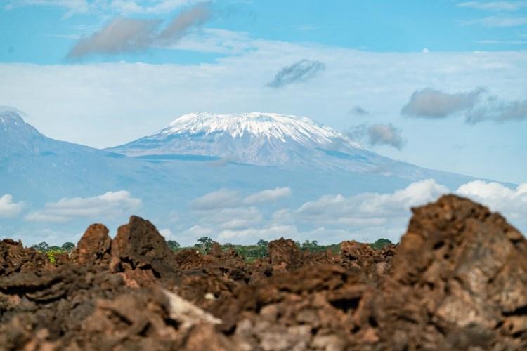 Blick auf den Kilimanscharo