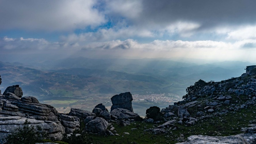 Blick in das Tal von Malaga