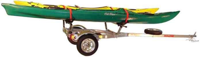 Malone MicroSport Trailer Two Kayak