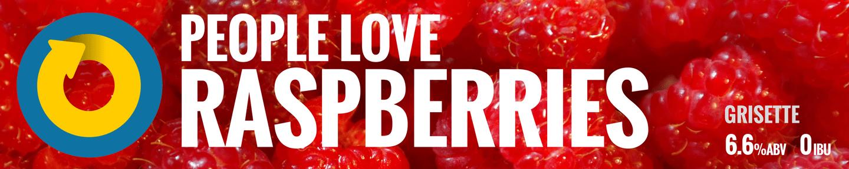 People Love Raspberries Tile