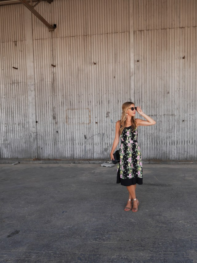 French Connection, Style, Floral Dress, OOTD