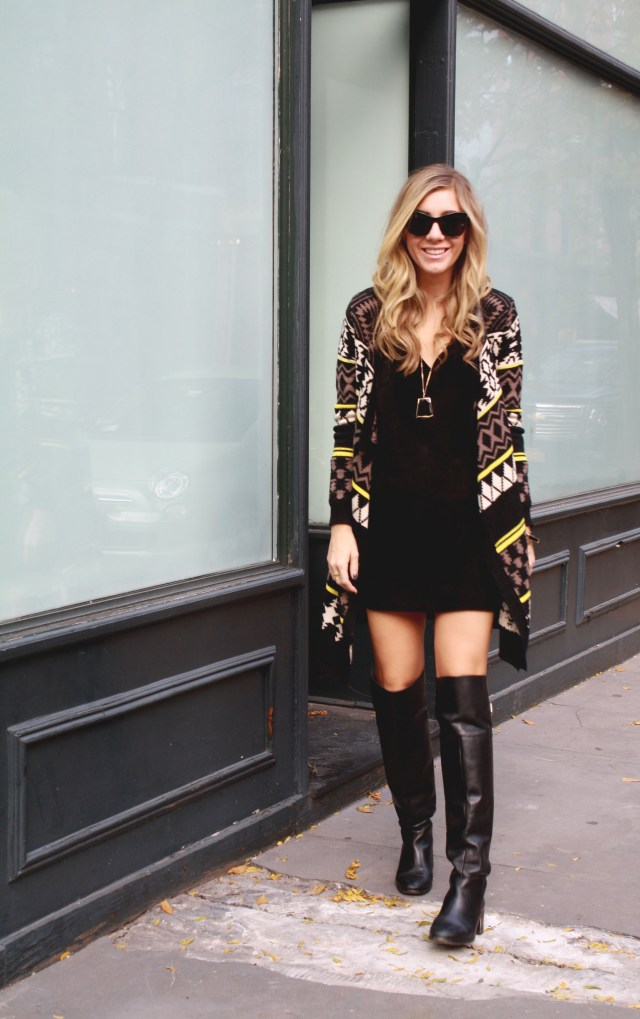 Little Black Dress, Knee High Boots, Fall, Rocksbox 15