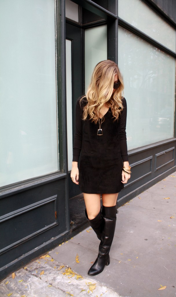 Little Black Dress, Knee High Boots, Fall, Rocksbox 5