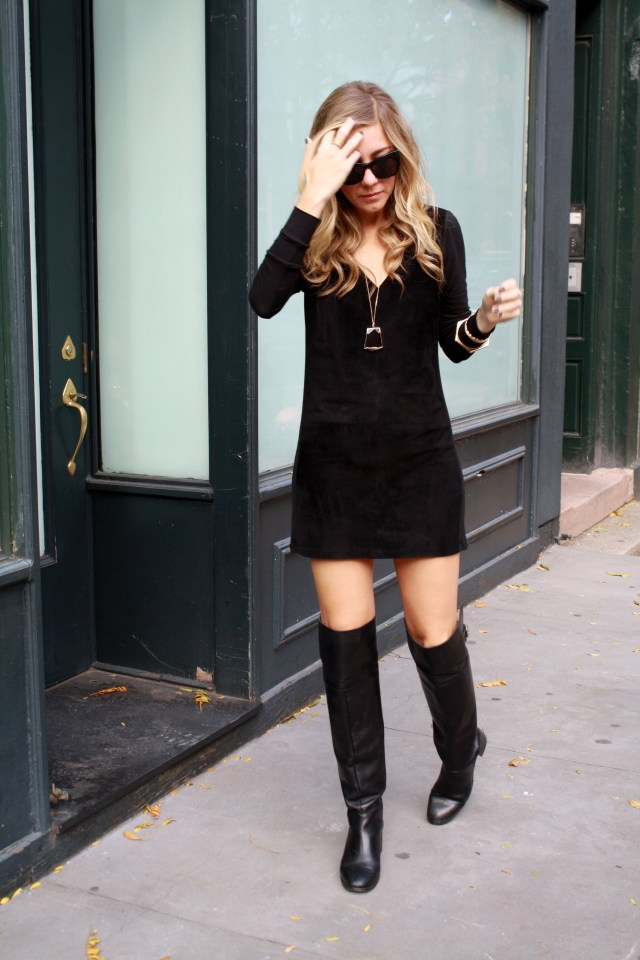Little Black Dress, Knee High Boots, Fall, Rocksbox