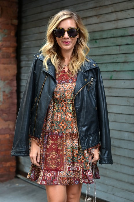 fall, ootd, what i wore, fashion blogger, west village, fall style, blonde, vintage, leather moto jacket