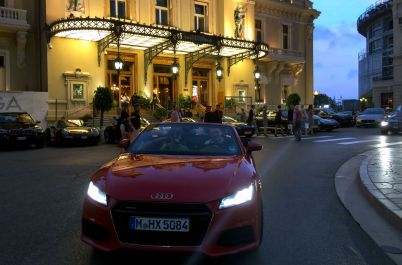 Robert und William im TT Cabrio am Casino Monte Carlo