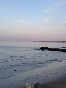 Pastel Colors of Malibu Day Moon Sky