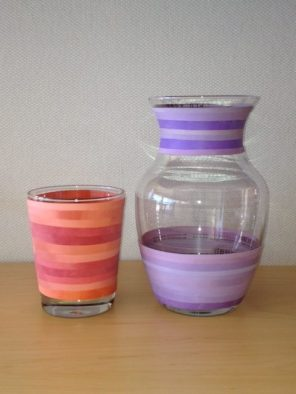 More rubber band vases, large and small