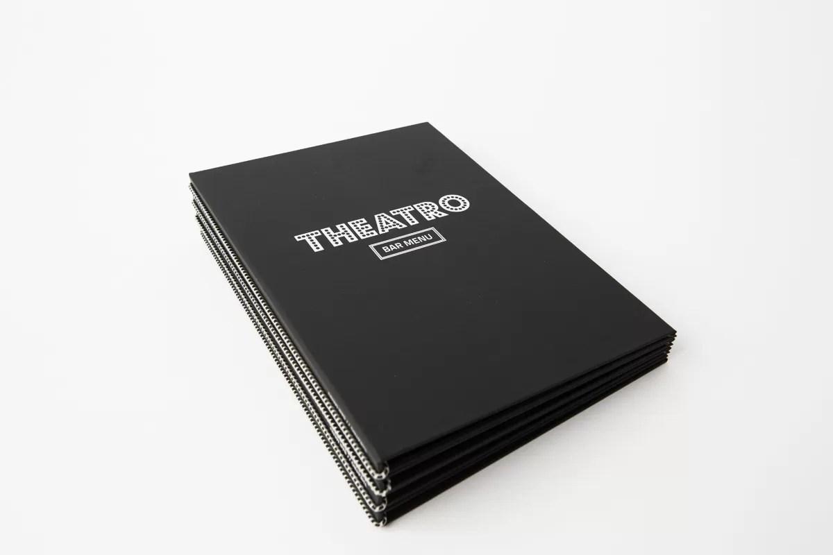 grafisk design af menukort og bogomslag til theatro bergen-designet af onad grafisk bureau