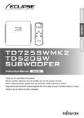 TD725SWMk2 and TD520SW Manual in English PDF
