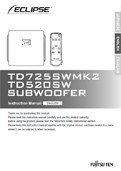 TD725SWMk2 and TD520SW Manual in English PDF