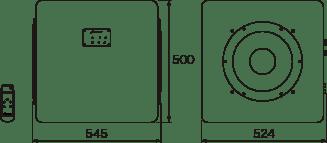 W545 x H500 x D524