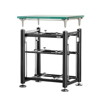 Exoteryc 3 Tier Rack with Glass Turntable Platform