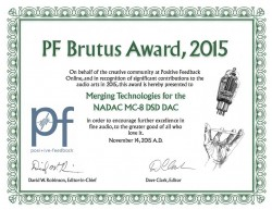 PFO Brutus Award 2015 for MERGING+NADAC