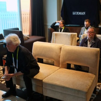 Graham Nash listening in OAHN room