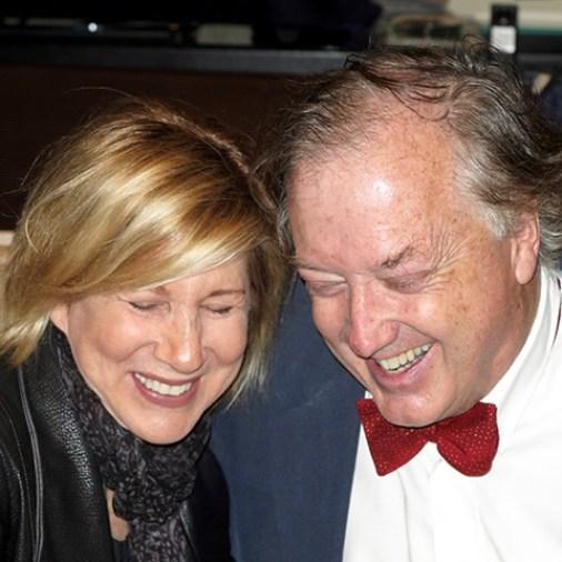 Lori Lieberman and Philip O'Hanlon sharing a laugh at CES 2016