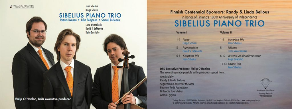 Sibelius Piano Trio DSD recording by Yarlung Records