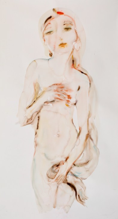 """""""L'Amour, Comp 04"""" original water color, 90"""" x 45"""" by Kim McCarty"""