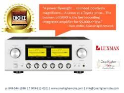 Luxman L-550AX Soundstage Hans Wetzel Review