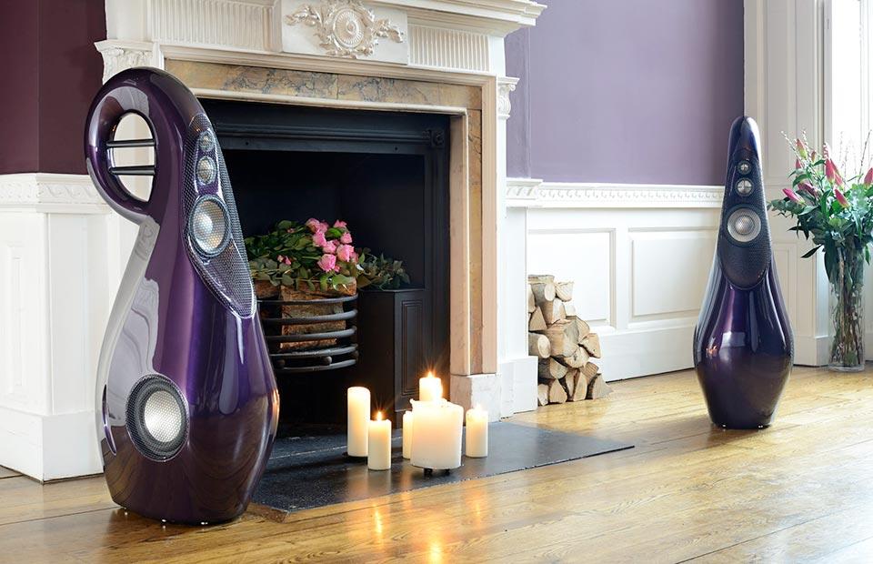 Vivid Giya G3 in front of fireplace