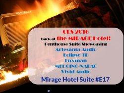 CES 2016 at the Mirage Suite E17