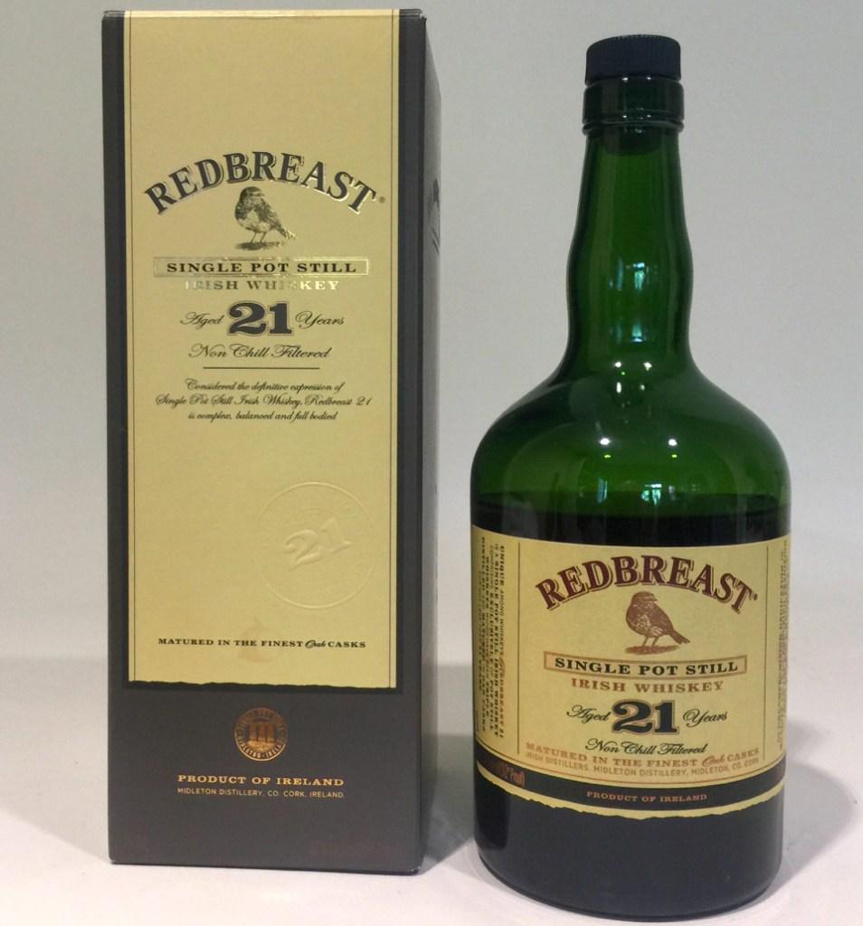 Redbreast 21 whiskey