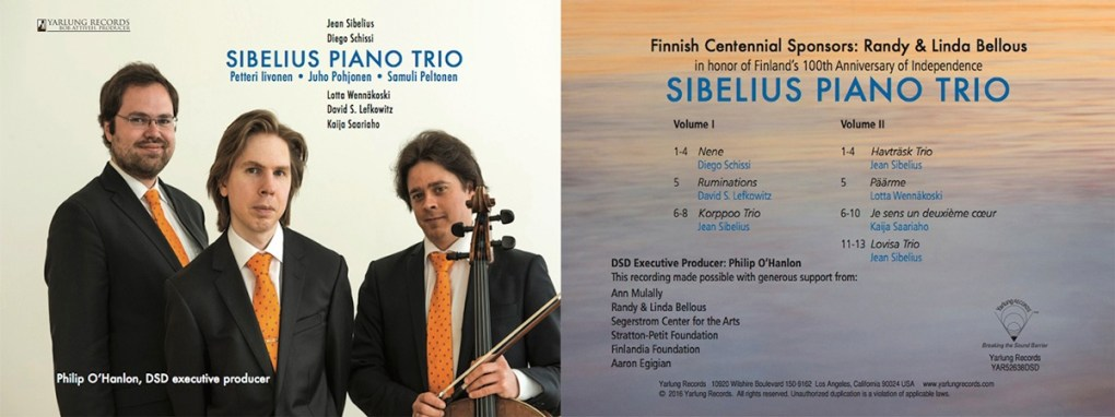Sibelius Piano Trio DSD recording by Yarlung Records