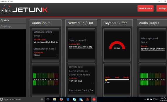 JetLink Opus codec screenshot