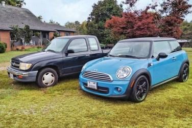 Toyota Tacoma and Mini Cooper