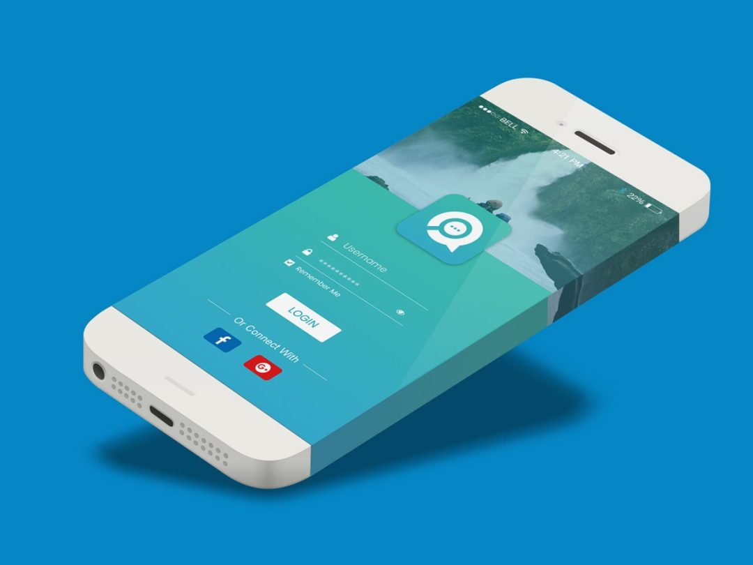 10 Material Design Mobile Login & Sign Up Screen Free Download