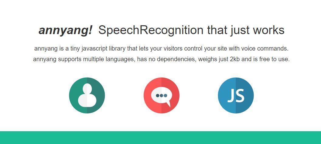 Annyang - Best JavaScript Audio Libraries