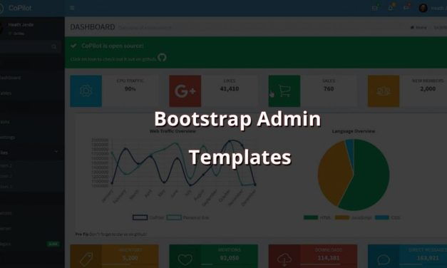 Best Free Bootstrap Admin Templates 2019
