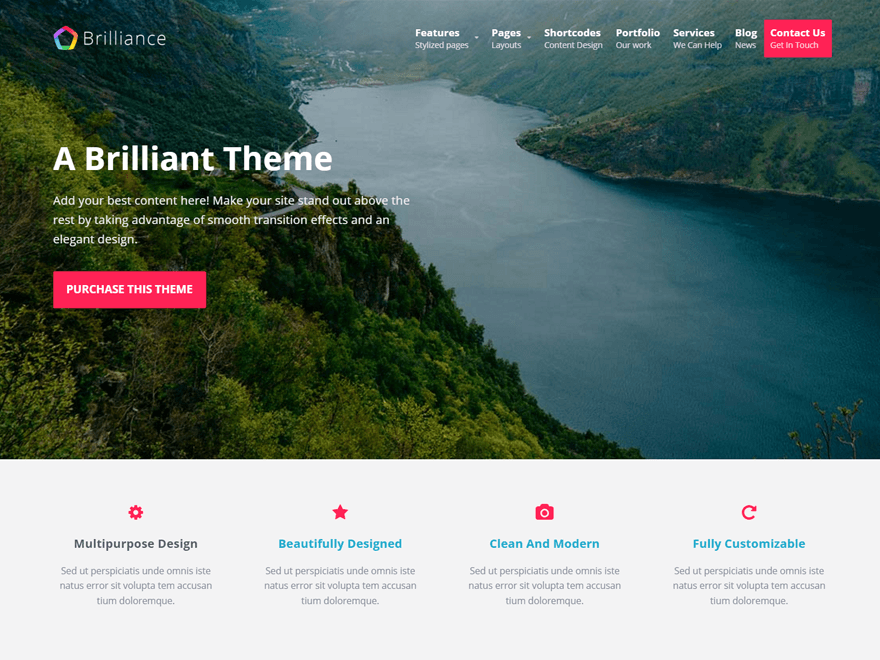 Brilliance For Agencies and Corporate Websites