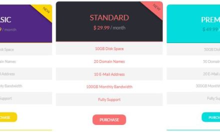 Best Free Bootstrap Pricing Templates