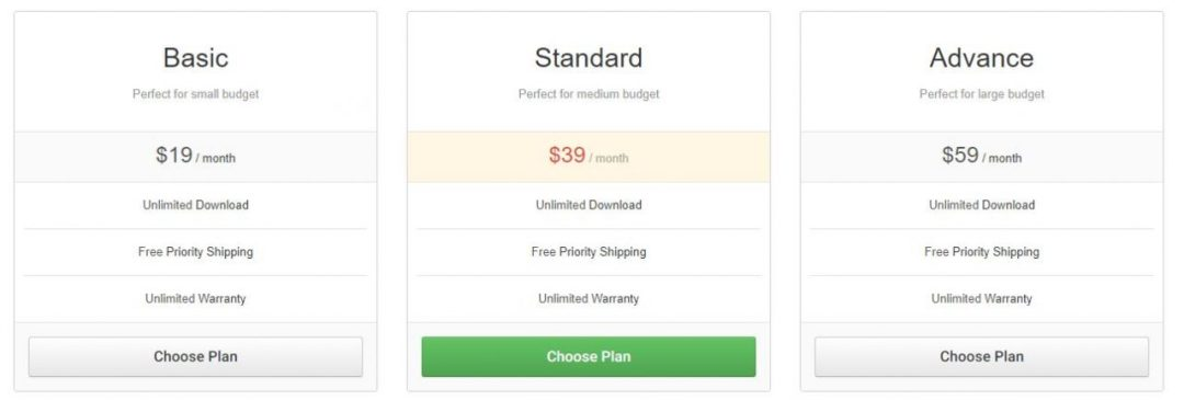 Free Pricing Plan Template