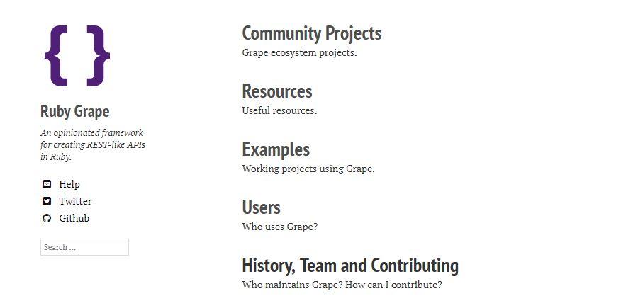 Grape - An Framework for Creating REST-like APIs in Ruby