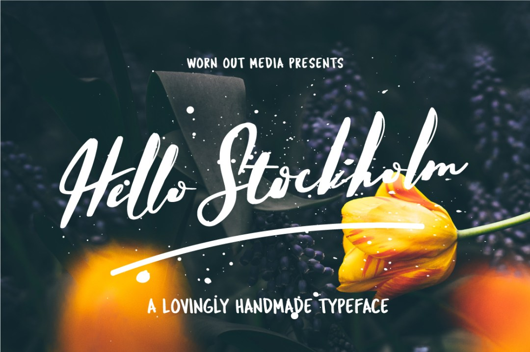 Hello Stockholm - Free Handmade Typeface -Free Best Fonts For Designers