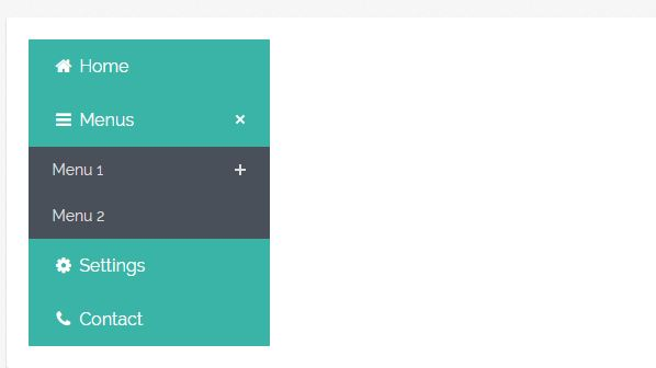 JQuery Flat Accordion Menu