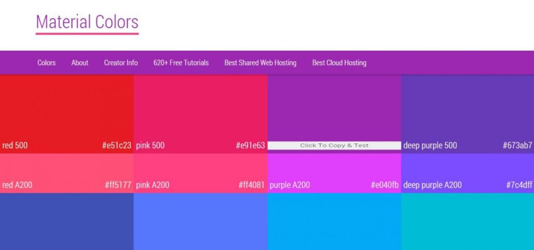 Material Colors - Material Design Color Selection