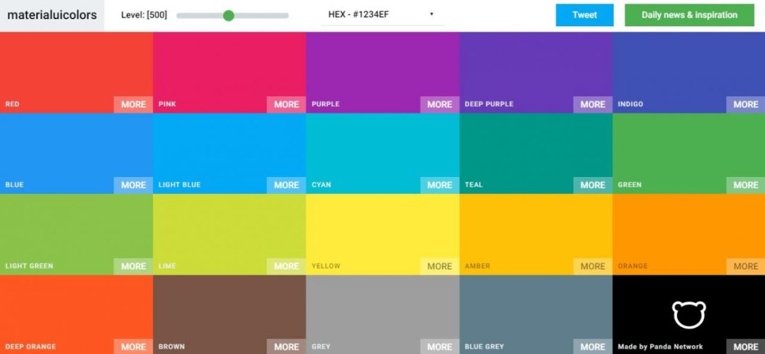 Material UI - Colors, Color Palette