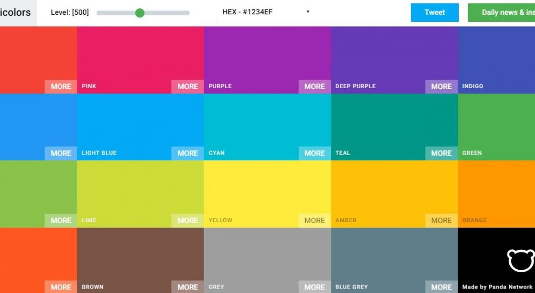 Material UI - Material Design Colors, Color Palette