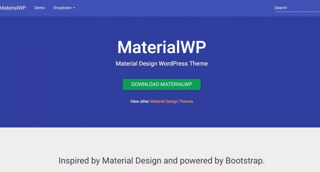 MaterialWP - Material Design WordPress Theme