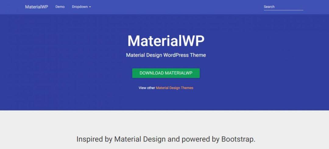 MaterialWP - Material Design WordPress Theme