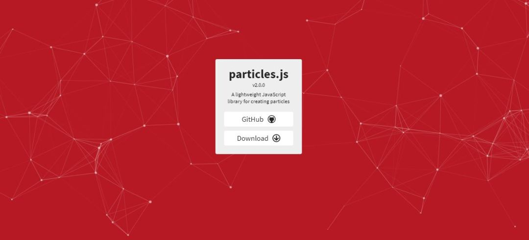 Particles - JavaScript Animation Libraries