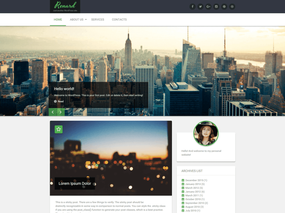 Renard Lightweight WordPress Theme