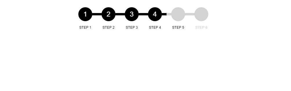 Step Indicator css pagination example