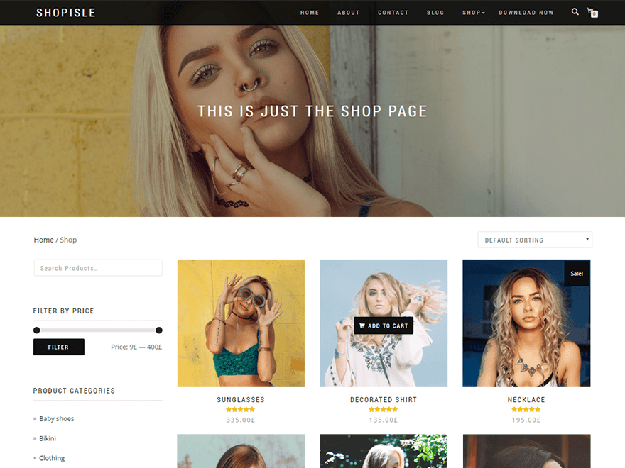 Shop Isle - Free WordPress Ecommerce Themes
