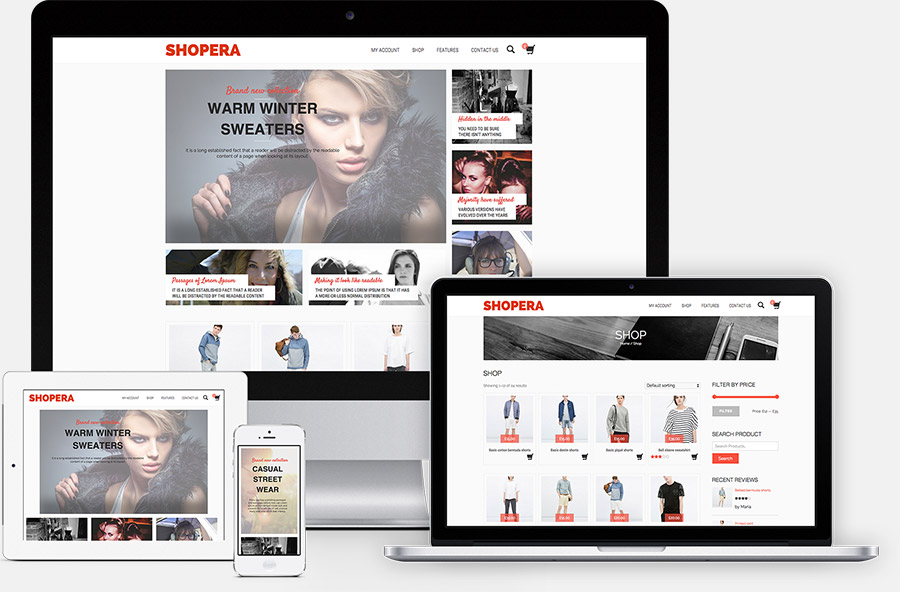 Shopera - Free WordPress Theme