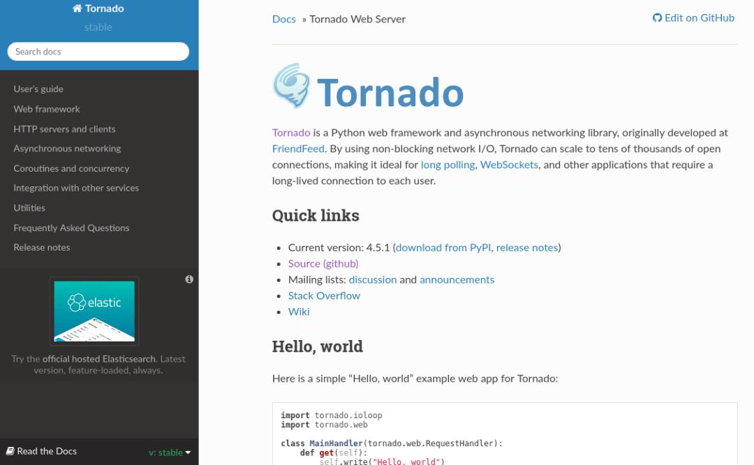 TORNADO Python Framework