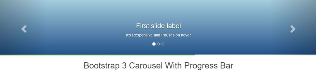 Bootstrap 3 Carousel with Progress Bar – Responsive